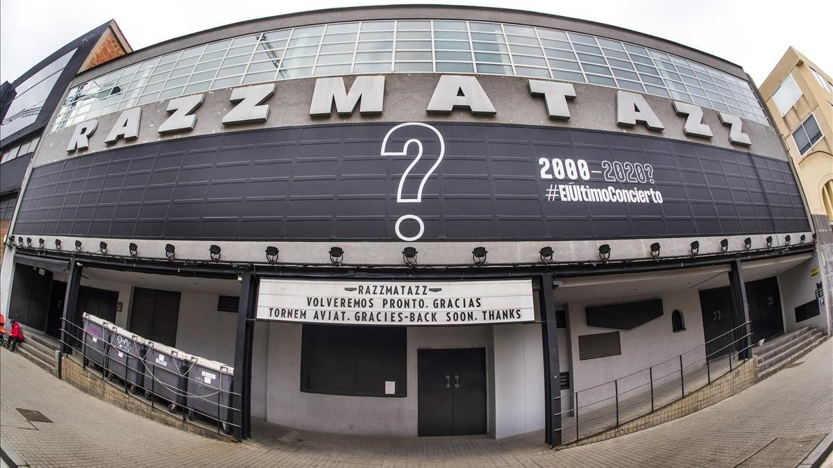 La sala de conciertos y discoteca Razzmatazz lleva un ano cerrada al publico por la covid.