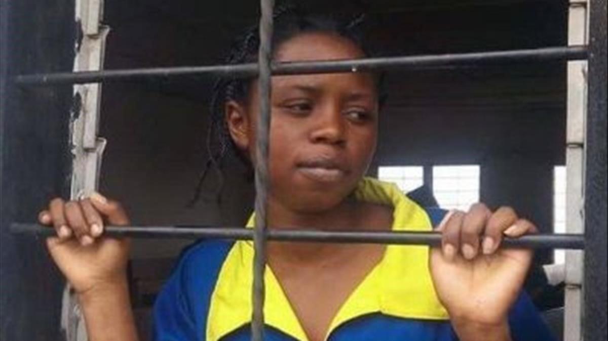 Rebecca Kabugho, activista por la democracia en el Congo, durante su detención en 2016.