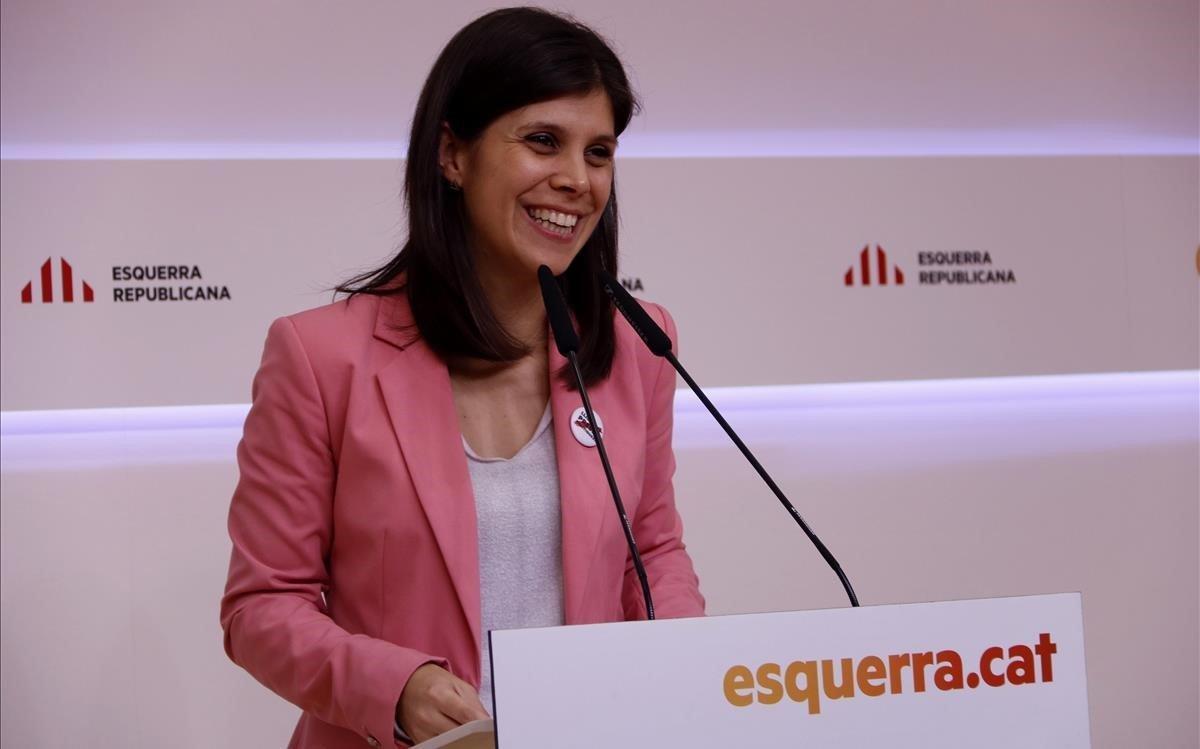 La portavoz de ERC y miembro del equipo negociador de la investidura, Marta Vilalta.