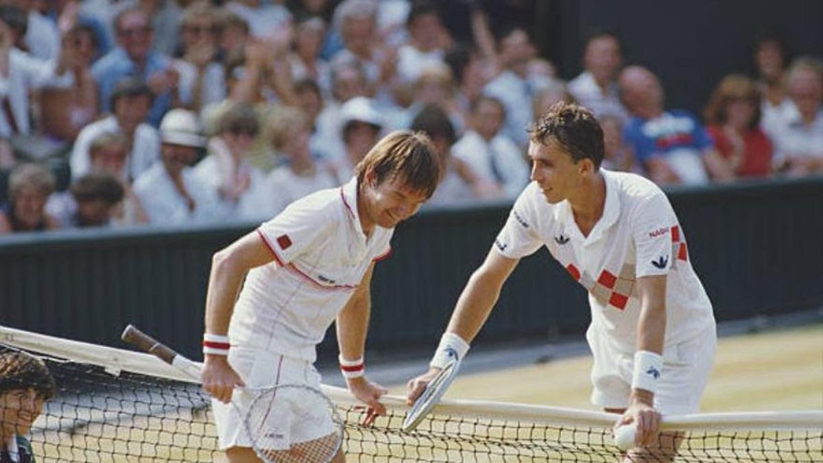 Connors y Lendl, en un inusual momento de distensión entre ambos.