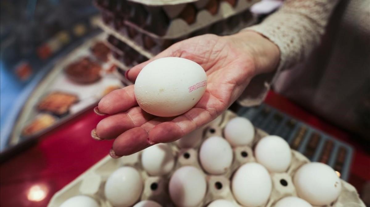 Huevos en una huevería de Barcelona.
