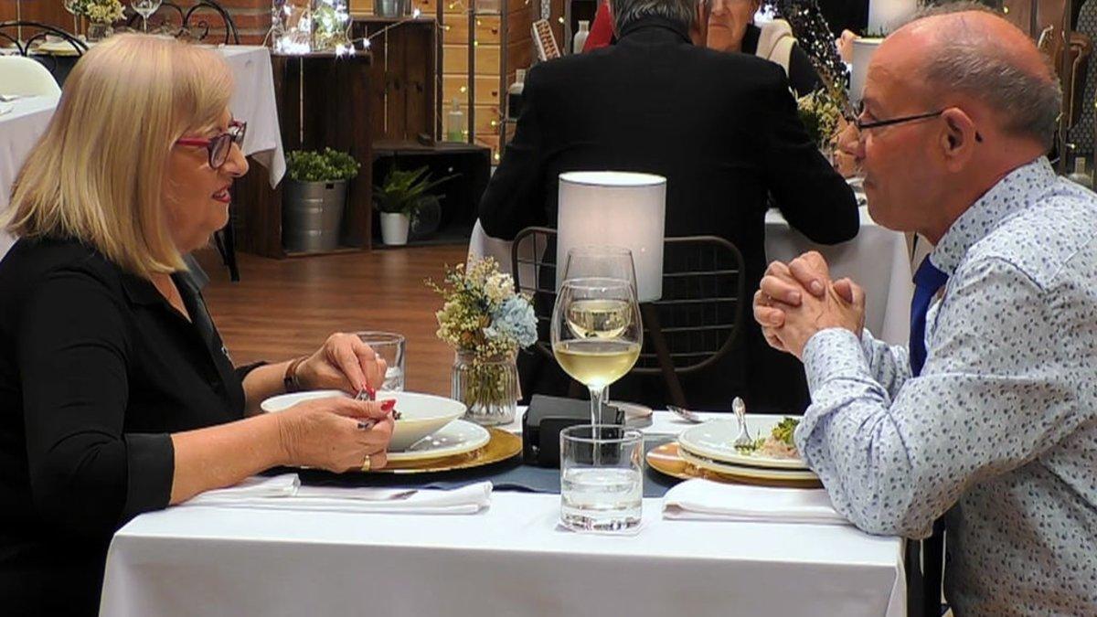 Amparo y Tomás en 'First Dates'.