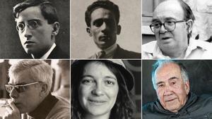 Carles Riba, Joan Salvat-Papasseit, Vicent Andrés Estellés, Gabriel Ferrater, Maria Mercè Marçal y Joan Margarit.