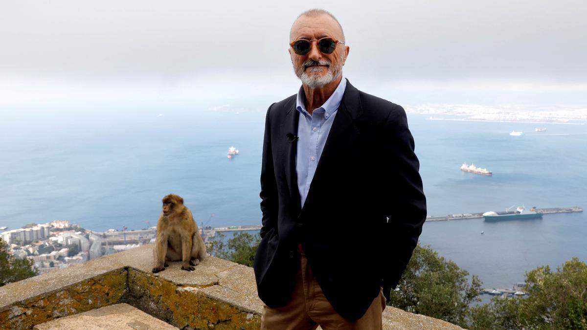 Arturo Pérez-Reverte, este martes en Gibraltar, donde ha presentado su nueva novela, 'El italiano'.