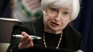 Yellen, presidentade la Reserva Federal, en rueda de prensa en septiembre pasado.