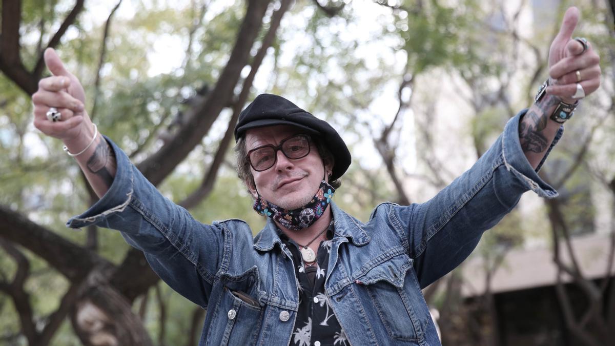 El cantante y guitarrista británico Ian Siegal, este jueves en Barcelona