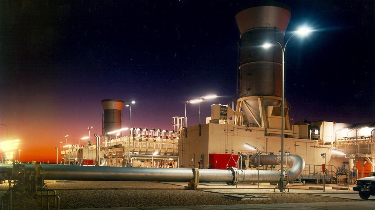 Instalaciones del gasoducto Magreb-Europa.