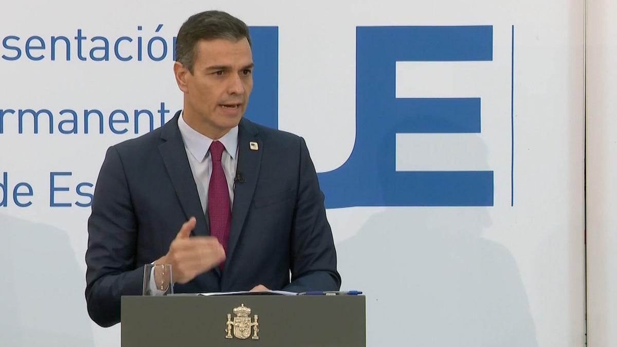 El presidente del Gobierno, Pedro Sánchez, en la rueda de prensa tras el Consejo Europeo de este 16 de octubre en Bruselas.