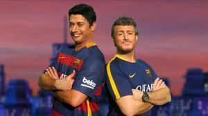 Luis Suárez (David Olivares) y Luis Enrique (Ivan Labanda), en una imagen de 'Crackòvia'.