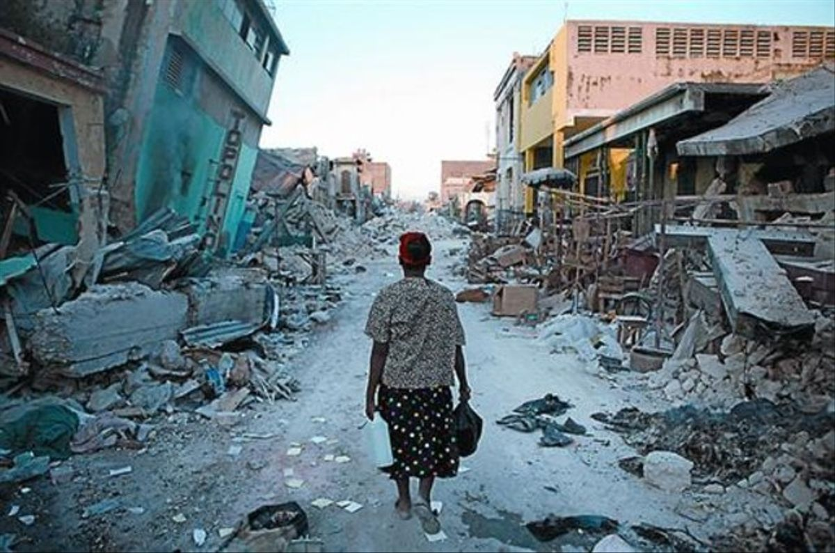 Una imagen del reportaje de Damon Winter sobre el terremoto de Haití.