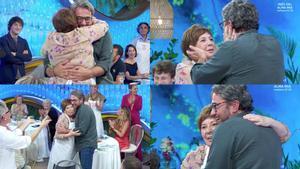 Imágenes del abrazo entre Máximo Huerta y Celia Villalobos en 'Masterchef Celebrity 5'.