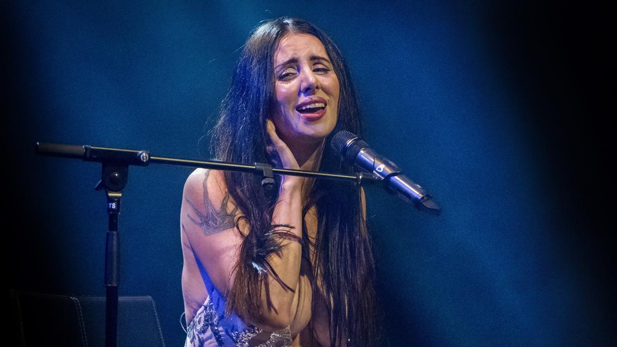 Un momento del concierto de Mala Rodríguez en la Sala Barts de Barcelona.