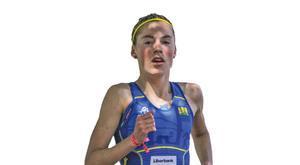 Paula Herrero, en una prueba con la selección asturiana.