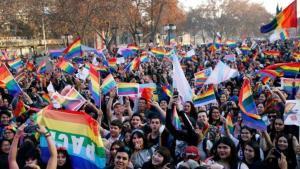 Marcha del Orgullo Gay en Chile.