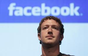 El fundador de Facebook, Mark Zuckerberg, en una conferència a Mountain View (EUA), el dia 13.