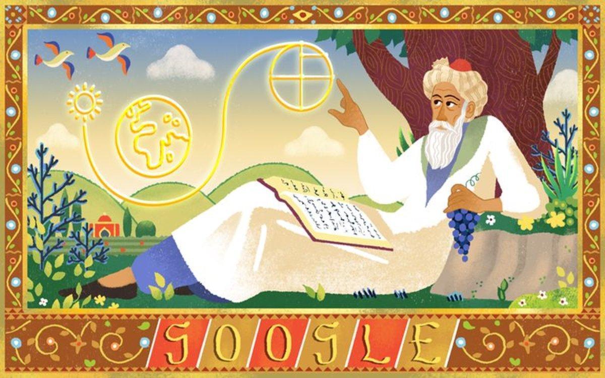 Omar Khayyam, matemático, astrónomo y poeta persa quien perfeccionó elcalendario que sigue rigiendo en Irán y Afganistán.