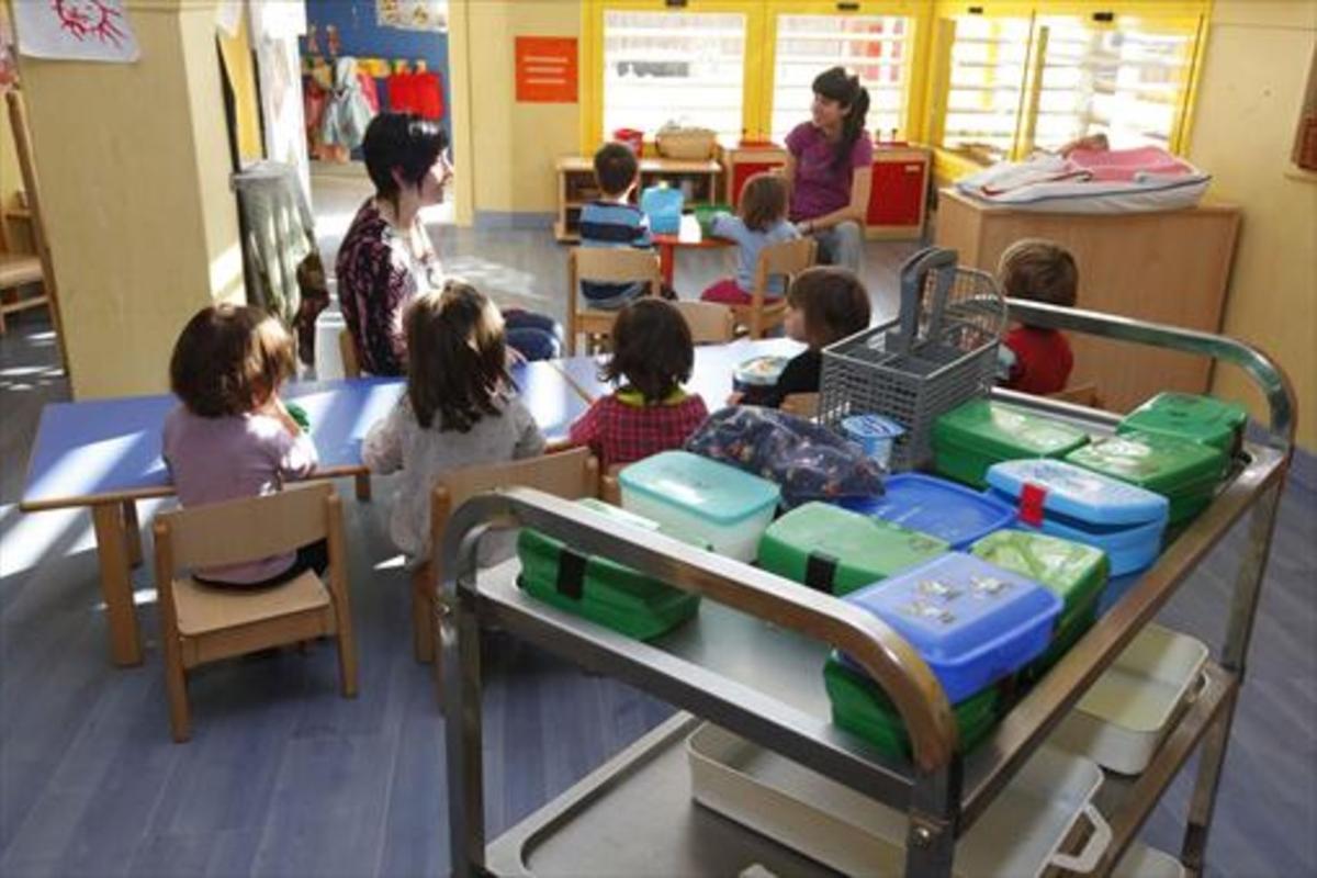 Una de las aulas de la guardería municipal El Petit Princep de Manresa.
