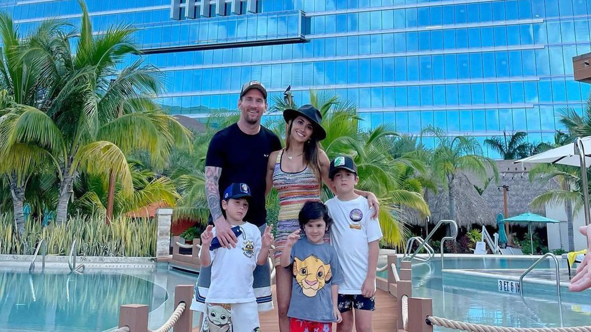 Les vacances en família de Leo Messi a Miami