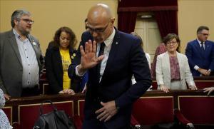 Raül Romeva, en el Senado, el pasado día 21.