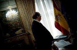 Miquel Iceta, ministro de Política Territorialy Función Pública, durante la entrevista con EL PERIÓDICO en su despacho, el pasado 27 de mayo.