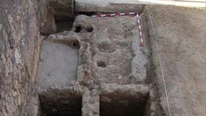 Restos de la antigua tienda laboratorio de perfumes en Pompeya (Italia) descubierta por arqueólogos españoles.