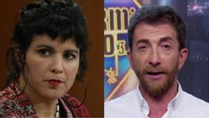 Teresa Rodríguez y Pablo Motos