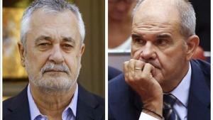 Los expresidentes andaluces José Antonio Griñán y Manuel Chaves.