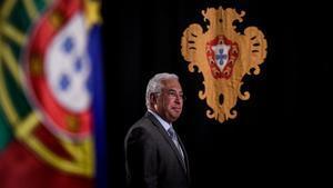 El primer ministro portugués, Antonio Costa, durante una rueda de prensa en Lisboa.
