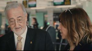 El doctorCorbella, con Cristina Puig, en FAQS (TV-3).