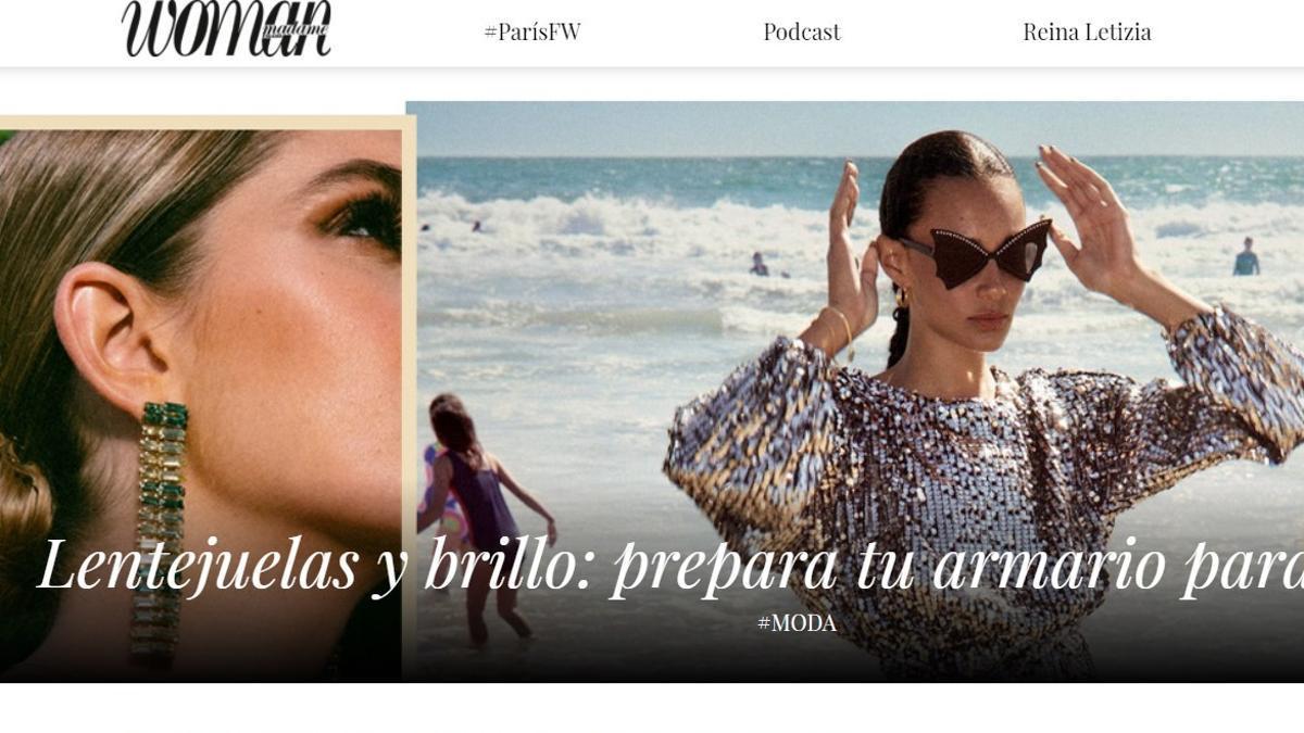 La web de la revista Woman