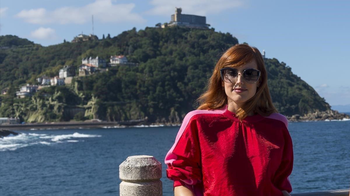 Natalia de Molina, en la presentación de la película de Netflix 'Elisa y Marcela', en el Festival de San Sebastián.