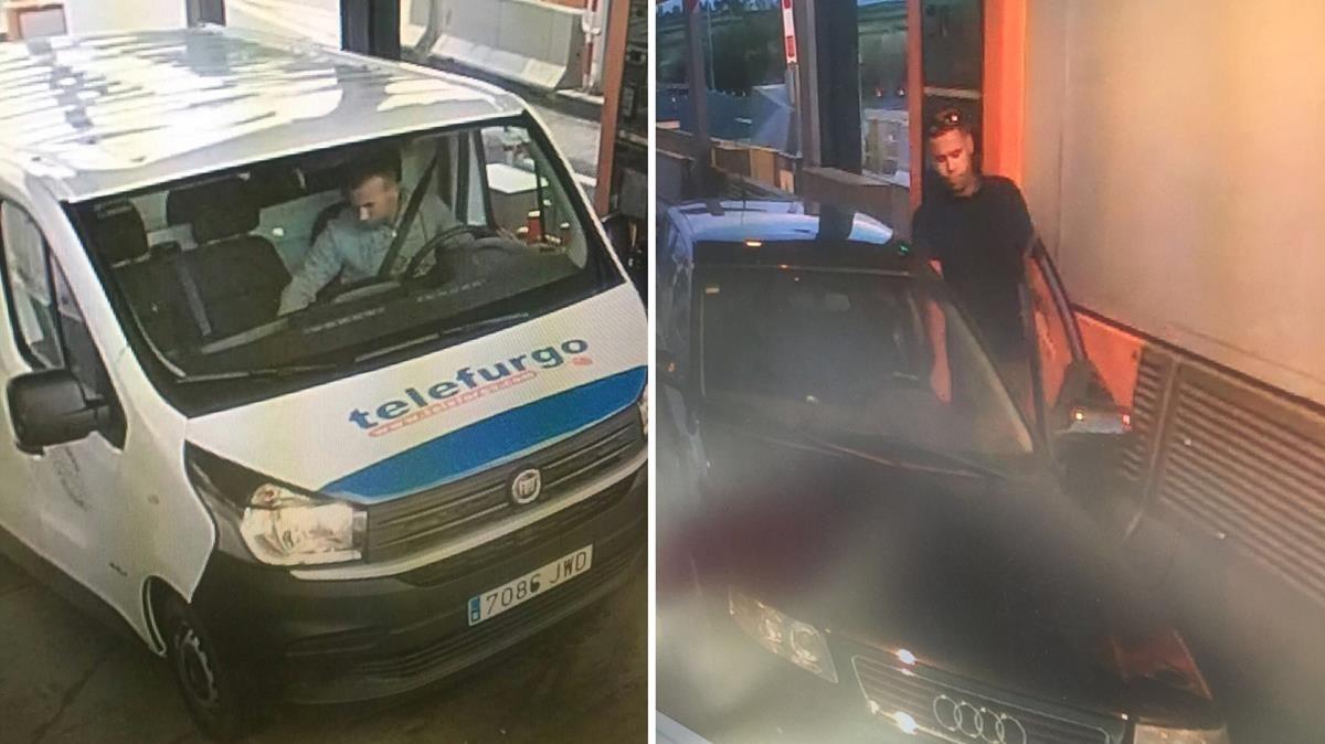 Fotografías captadas en el peaje de Cambrils con los dos coches usados en los atentados.