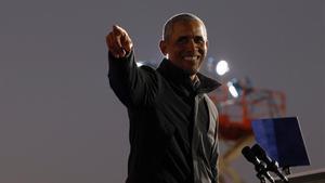 El expresidente de EEUU Barack Obama, durante un mitin de la pasada campaña.