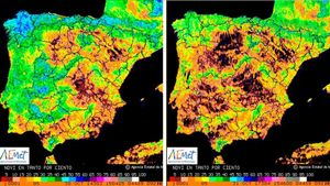 La sequera a Espanya, en visió satel·litària