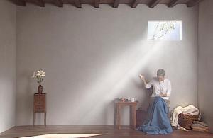 'Catherine's Room'(2001), políptico de vídeo en color sobre cinco monitores planos.