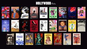 Escaparate de Filmin, con carteles alternativos de películas.
