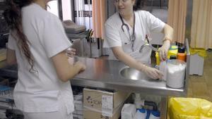 Enfermeras del Hospital de Santa Tecla de Tarragona.