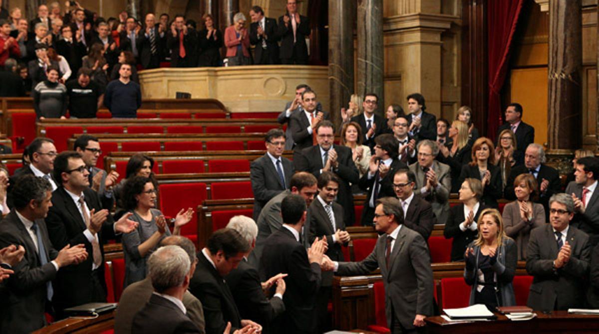 El Parlament aprueba la declaración de soberanía