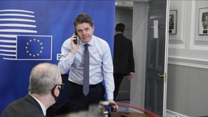 El ministro irlandés de Finanzas y presidente del Eurogrupo, Paschal Donohoe.