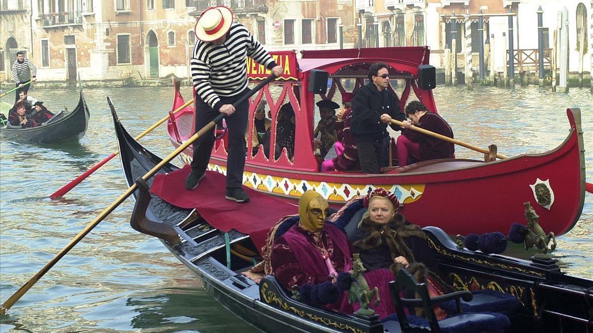 Turistas en tiempos de carnaval en Venecia, en una foto de archivo.