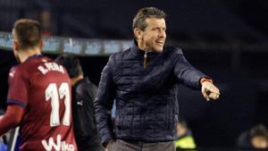 Juan Carlos Unzué dirige al Celta por última vez.