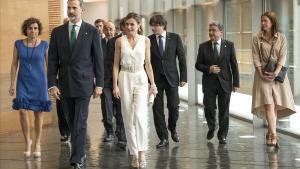 Los Reyes, en la entrega de los Premis Fundació Princesa de Girona del 2017.