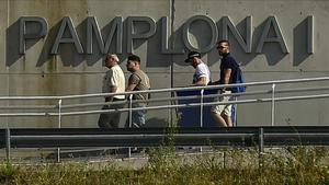 Salida de la prisión de Pamplona de tres miembros de La Manada.