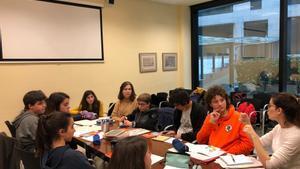 Algunos de los miembros del Consell Nacional dels Infants i els Adolescents de Catalunya (CNIAC) reunidos.