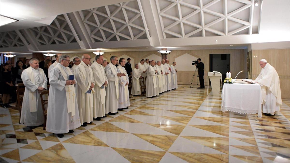 Acto religioso en el Vaticano.