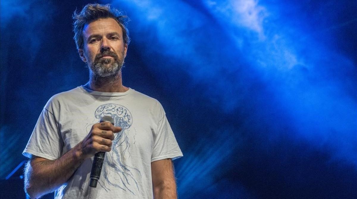 Pau Donés, durante el concierto de celebración del 5º aniversario de losacústicos en EL PERIÓDICO.