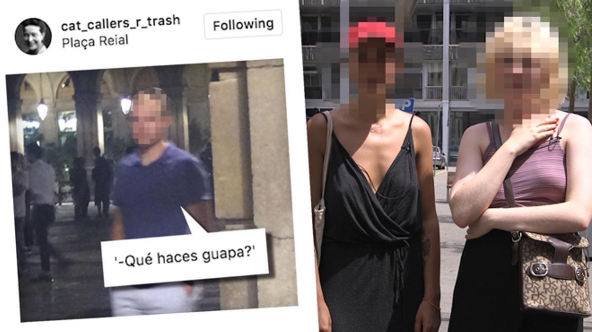 """Estas chicas tienen una cuenta de Instagram para visibilizar a los """"catcallers"""" de Barcelona.@cat_callers_r_trash te enseña a luchar contra el acoso callejero."""