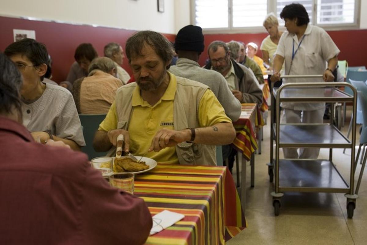 Comedor social de la Fundación Arrels en Barcelona.