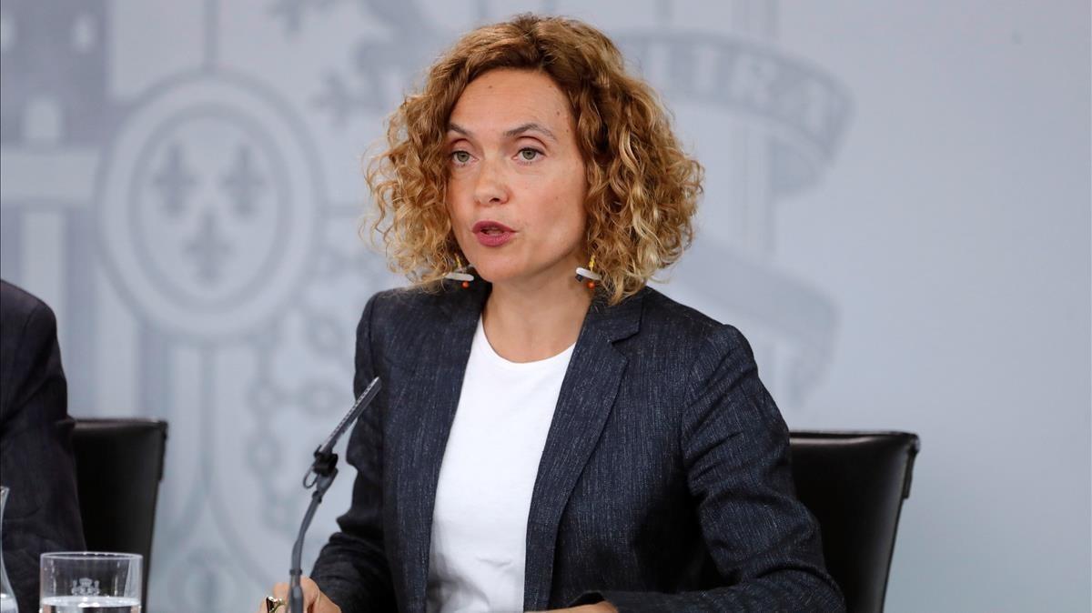La ministra de Política Territorial y Función Pública, Meritxell Batet, este viernes.