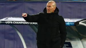 Zidane, el miércoles en el partido de Champions contra el Borussia Moenchengladbach.